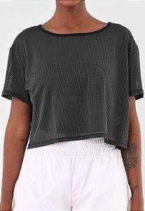 Camiseta Colcci Fitness Tule - Preta
