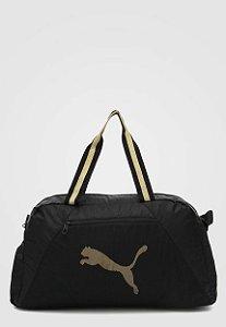 Bolsa Puma Essential Grip Bag - Preto e Dorado
