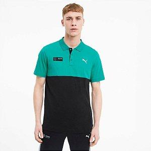 Camisa Polo Puma Mercedes Amg Petronas - Preto e Verde
