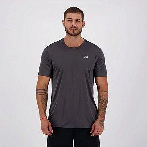 Camiseta New Balance PES Performance 100% Poliéster - Cinza Chumbo