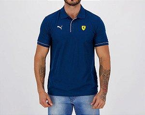 Camisa Polo Puma Scuderia Ferrari Race - Azul Marinho