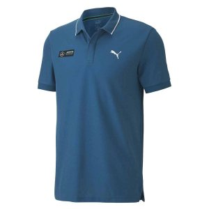 Camisa Polo Puma Mercedes AMG Petronas - Azul Marinho (Digi Blue/Detalhe Gola)