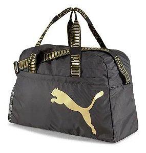 Bolsa Puma Essential Grip Bag Preto e Dourado