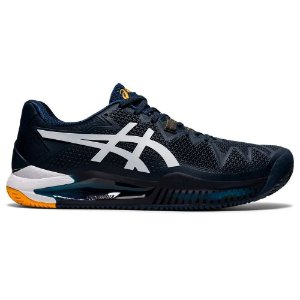 Tênis Asics Gel Resolution 8 Clay Azul Marinho