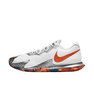 Tênis Nike Zoom Air Vapor Cage 4 - Branco e Laranja