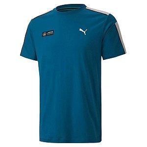 Camiseta Puma Mercedes Mamp T7 Tee Digi Blue Azul