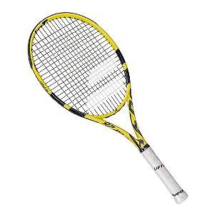 Raquete de Tenis Babolat Aero Junior 26 Preto e Amarelo