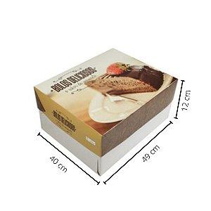 Cx Bolo BR-06   49x40x12 cm. Pacote c/10 unid. Valor unid. R$ 8,52