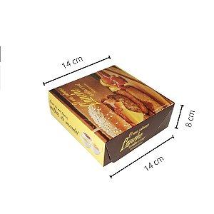 Cx Lanche GOU03- 14x14x8 cm. Pacote c/ 50 unid. Valor unid. R$ 1,33