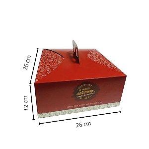 Cx Bolo/Torta ML02- 26X26X12 cm.Pacote c/10 unid. Valor unid R$4,68