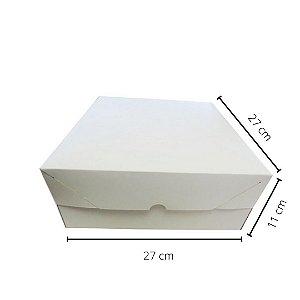 Cx branca BO-02/B 27x27x11 cm.Pacote c/10 unid. Valor unid.R$ 5,21