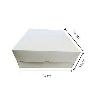 Cx branca BO-04/B 34x34x14 cm.Pacote c/10 unid. Valor unid.R$ 6,96