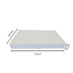Cx branca DO-01/B 19x16x4 cm.Pacote c/10 unid. Valor unid.R$ 2,32