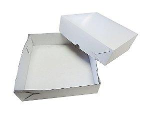 Caixa Salgado e Esfiha 01- C 255 X L 255 X A 70 mm.  Pacote com 10 unidades