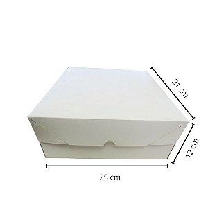 Cx Branca BR-03/B   31x25x12 cm. Pacote c/10 unid. Valor unid.R$ 4,92