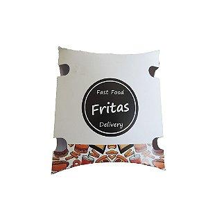Caixa  para  Fritas --- 03 - C 105 x L 35 x A 120 mm.  Pacote com 50 unidades.