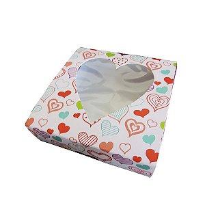 Caixa Presente Love color  --- C 115 x L 115 x A 40 mm. Pacote com 50 unidades.