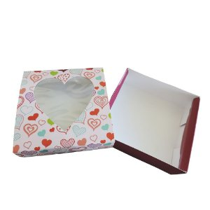 LOVECOLOR-01 11,5x11,5x4 cm. Pacote c/50.  Valor unid.R$ 1,86
