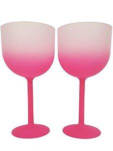 Taça de Gin Fosca Degrade Rosa de 500 ml