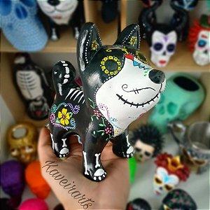 Cachorro Esqueleto Mexicano (Opções de Cores)