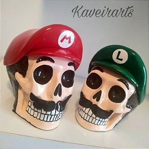 Caveiras Mario e Luigi (Pequena)
