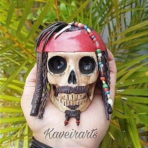 Caveira Jack Sparrow (Pequena)