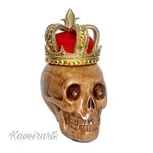 Caveira com coroa de Rei (Pequena)