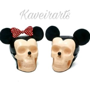 Caveira Mickey e Minnie P