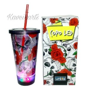 Copo Caveira Led 500ml