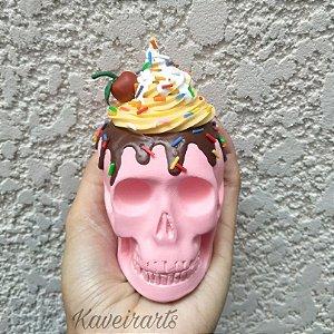 Caveira Cupcake p