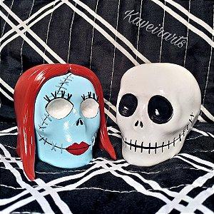 Caveira Jack e Sally (Pequena)