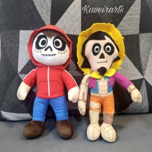 Boneco Pelúcia Miguel e Hector (Valor por unidade)