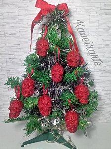 Caveirinhas de Glitter / Enfeite para árvore de Natal