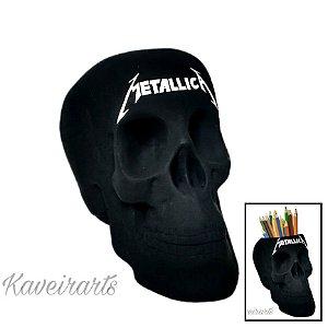 Caveira Metallica (Grande) (Fechada ou Porta Treco)