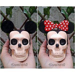 Caveiras Mickey e Minnie (Pequena)