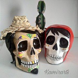 Caveiras Miguel e Hector (Pequena)