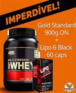 Whey Gold Standard 900g + Lipo 6 Black 60caps