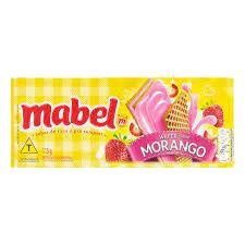 BISCOITO MABEL 115G WAFER MORANGO