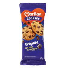 BISCOITO MARILAN 40G COOKIES ORIGINAL COM GOTAS DE CHOCOLATE