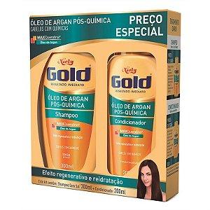 KIT SH+COND NIELY GOLD 300/200ML OLEO DE ARGAN  POS QUIMICA