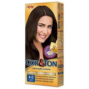 Tinta Cor & Ton 125G 4.0 Castanho Medio