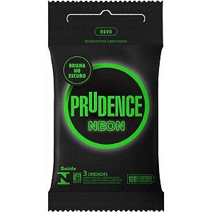 Preservativo Prudence Neon com 3 Unidades