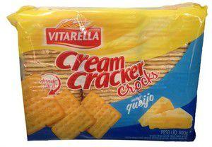 BISCOITO VITARELLA 400G CREAM CRACKER CROCKS QUEIJO