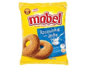 BISC MABEL 400G ROSQUINHA LEITE