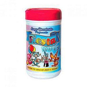 Lencos Umidecido Fiesta Wipes Rosa Pote c/75 unds
