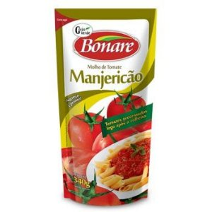 Molho Tomate 340G Bonare Manjericao Sache