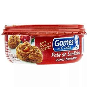 Pate De Sardinha Gomes Costa Com Tomate
