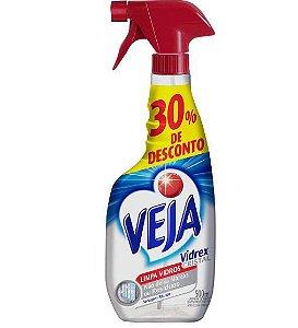 LIMPA VIDROS VEJA VIDREX CRIS 500ML 30% DESC