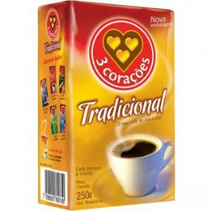 CAFE 3 CORACOES 250G TRAD A VACUO
