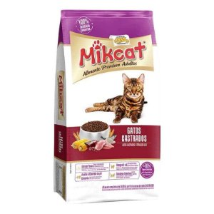 Racao Mikcat 1Kg Gatos Castrados